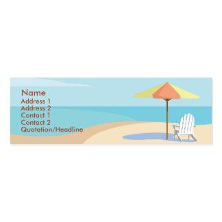 Playa - flaca plantillas de tarjetas personales