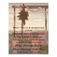 Playa Flaming Resort Costa Rica Wedding Invitation