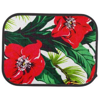 Playa floral hawaiana tropical alfombrilla de auto