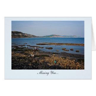Playa fósil de la costa jurásica - falta de usted tarjeta de felicitación