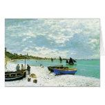 Playa francesa, Claude Monet Tarjeta De Felicitación