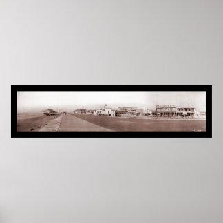 Playa Galveston, foto 1910 de TX Poster
