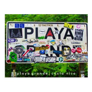 Playa Grande Costa Rica Postcard