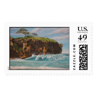 Playa grande. Stamp