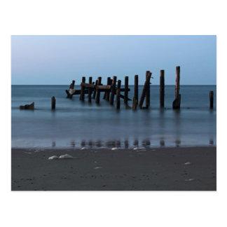 Playa Groynes de Happisburgh Tarjeta Postal