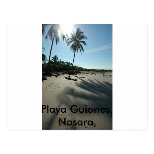 Playa Guiones Tarjeta Postal