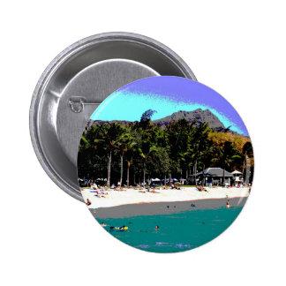 Playa hawaiana abstracta pin