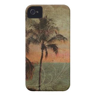 Playa hawaiana del vintage de PixDezines hapuna Case-Mate iPhone 4 Cobertura