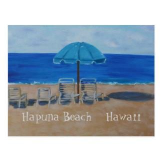 Playa Hawaii de Hapuna Tarjeta Postal