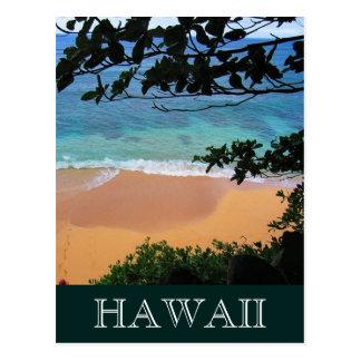 playa Hawaii de los escondites Postal