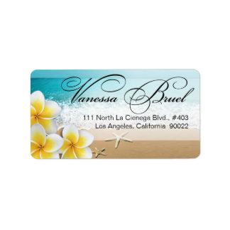 Playa Hawaii que se casa tropical de las estrellas Etiquetas De Dirección