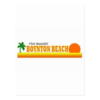 Playa hermosa de Boynton de la visita Postales