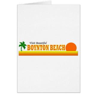 Playa hermosa de Boynton de la visita Tarjeta De Felicitación