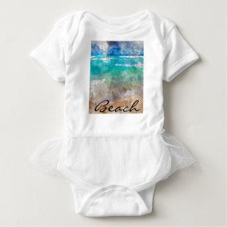 Playa hermosa de Cancun - acuarela de Digitaces Body Para Bebé