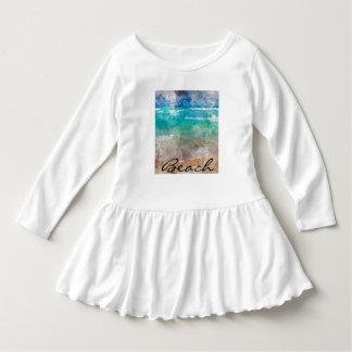 Playa hermosa de Cancun - acuarela de Digitaces Vestido