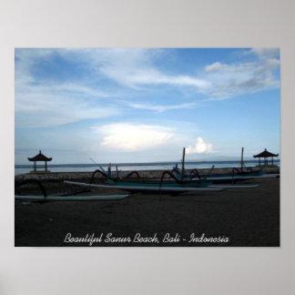 Playa hermosa de Sanur, Bali - Indonesia Póster
