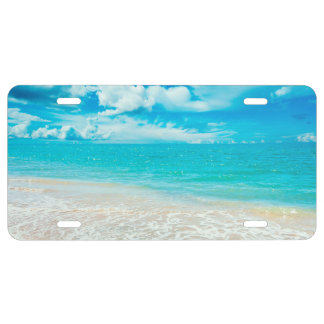 Playa hermosa del verano placa de matrícula