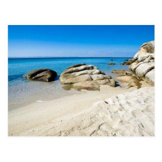 Playa hermosa en el mar Mediterráneo Tarjeta Postal