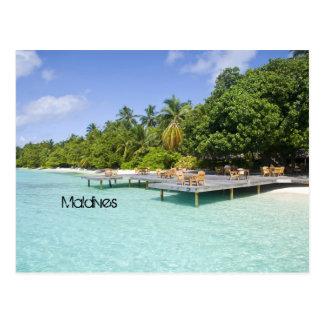 Playa hermosa en Maldivas Tarjetas Postales