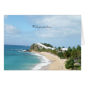 Playa hermosa… tarjeta de felicitación