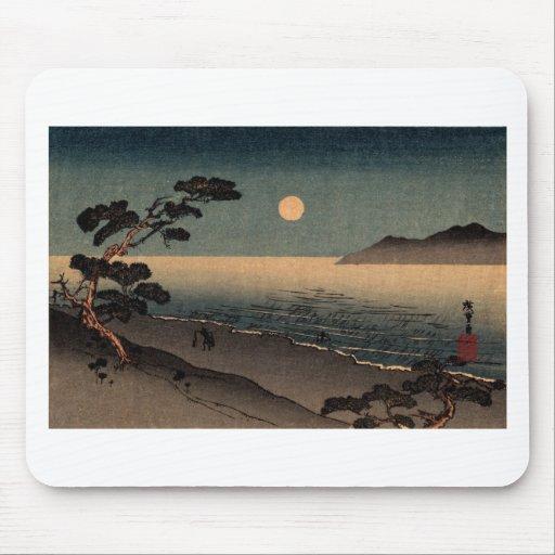 Playa iluminada por la luna en Japón no.1 Alfombrillas De Raton