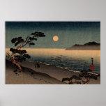 Playa iluminada por la luna en Japón no.1 Impresiones
