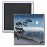 Playa iluminada por la luna en Japón no.2 Imán