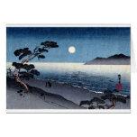 Playa iluminada por la luna en Japón no.2 Tarjeton