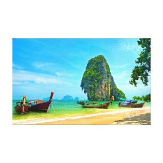 Playa impresionante de Railay, Krabi Tailandia Impresión En Lienzo