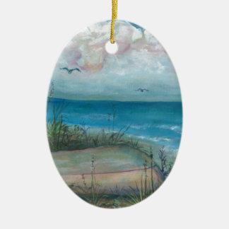 Playa india de las rocas de la escena de Beache, a Ornaments Para Arbol De Navidad
