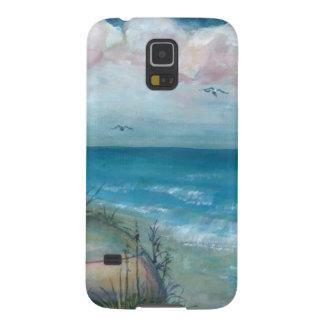 Playa india de las rocas de la escena de Beache, a Fundas Para Galaxy S5