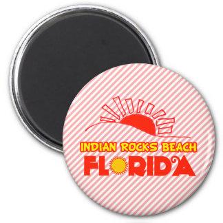 Playa india de las rocas la Florida Imán De Nevera