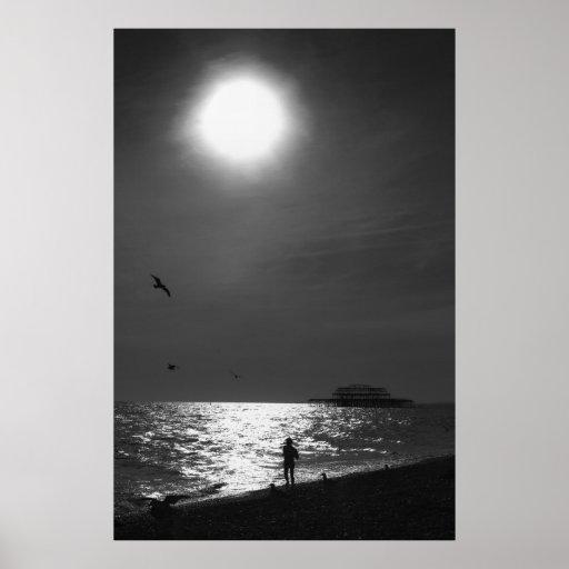 Playa Inglaterra de Brighton Posters