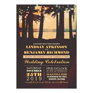 Playa - invitación del boda del destino