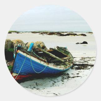 Playa Irlanda de Donegal Pegatina Redonda