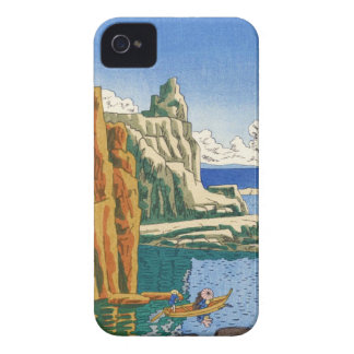 Playa japonesa del waterscape de Asano Takeji iPhone 4 Case-Mate Coberturas