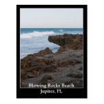 Playa Júpiter, FL de las rocas que sopla Postal