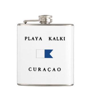 Playa Kalki Curacao Alpha Dive Flag Hip Flask