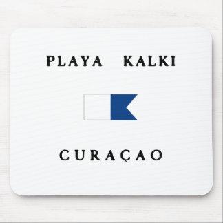 Playa Kalki Curacao Alpha Dive Flag Mousepads