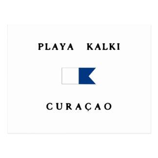 Playa Kalki Curacao Alpha Dive Flag Postcard