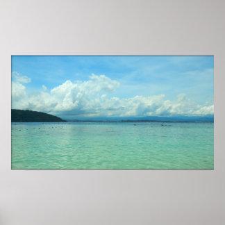 Playa - Kota Kinabalu, Malasia Póster