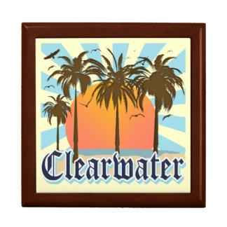 Playa la Florida de Clearwater Joyero Cuadrado Grande
