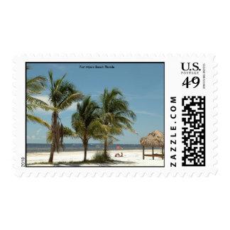 Playa la Florida de fuerte Myers Timbre Postal