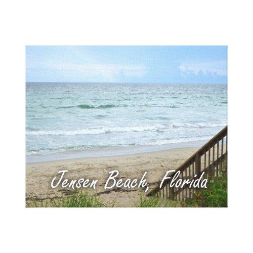 Playa la Florida de Jensen de los pasos de la play Impresion De Lienzo