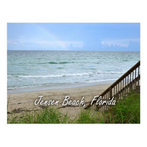 Playa la Florida de Jensen de los pasos de la play Tarjeta Postal