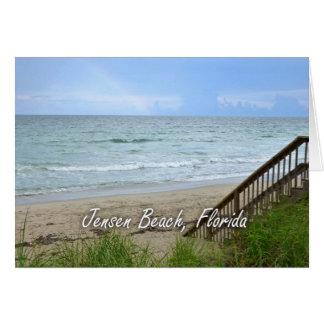 Playa la Florida de Jensen de los pasos de la Tarjeta Pequeña