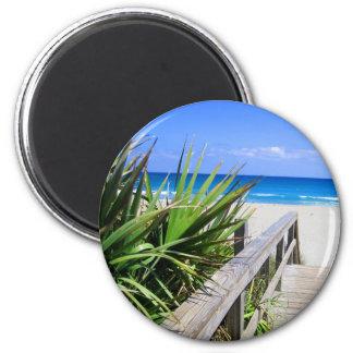 Playa la Florida de Juno Imán Redondo 5 Cm