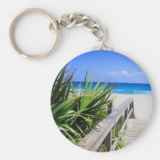 Playa la Florida de Juno Llavero Redondo Tipo Pin