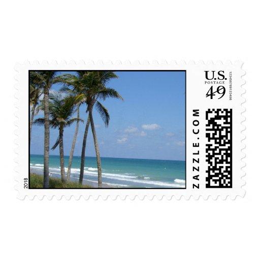 Playa la Florida del Fort Lauderdale Timbre Postal