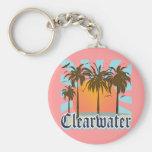 Playa la Florida FLA de Clearwater Llavero Redondo Tipo Pin
